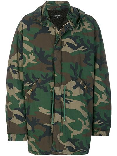 YEEZY camouflage oversized parka